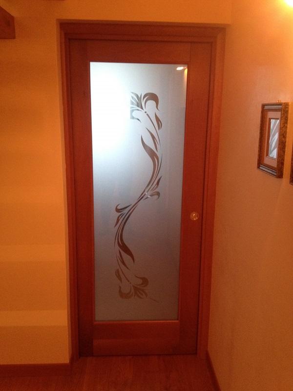 Porta interna in legno e vetro FB F.lli Barbiero Serramenti