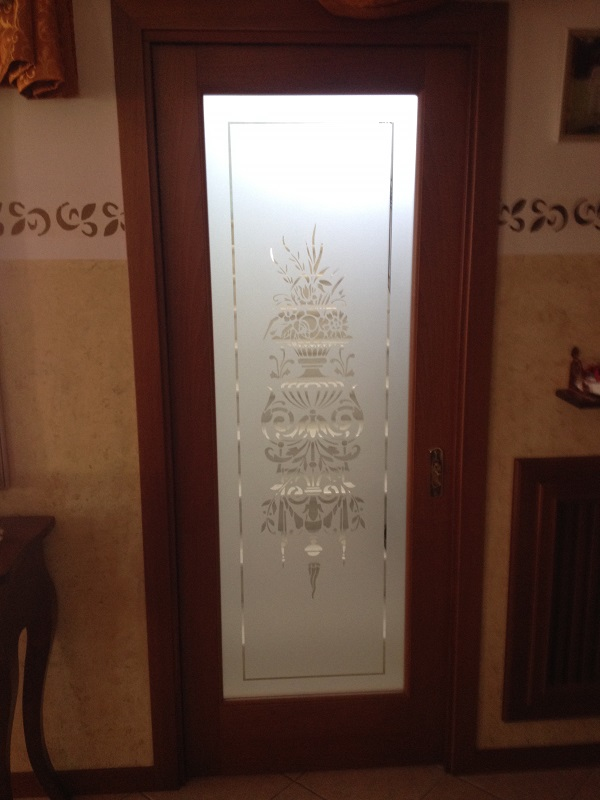 Porta in legno e vetro per interni FB F.lli Barbiero Serramenti